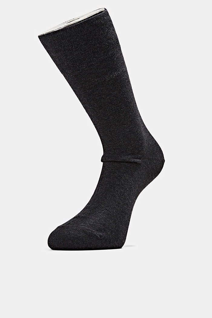 2er-Pack Socken mit Softbund, ANTHRACITE MELANGE, detail image number 0