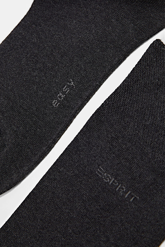 2er-Pack Socken mit Softbund, ANTHRACITE MELANGE, detail image number 2