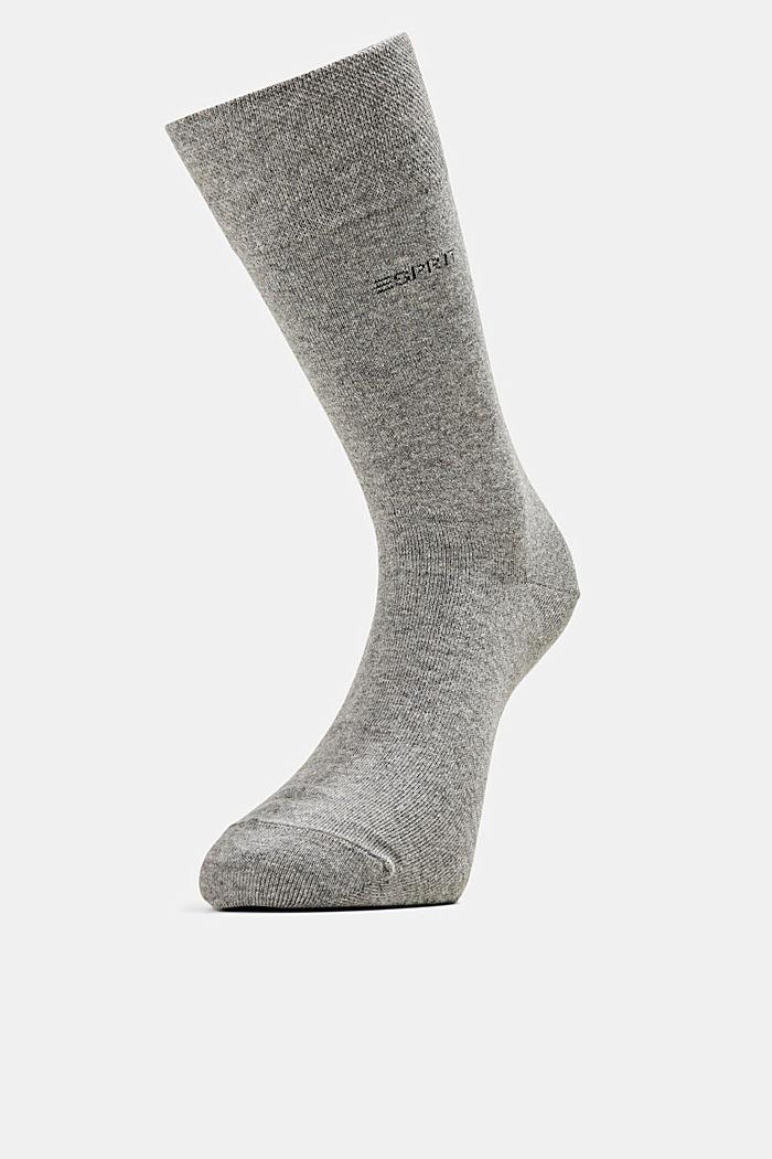 2er-Pack Socken mit Softbund, LIGHT GREY MELANGE, detail image number 0