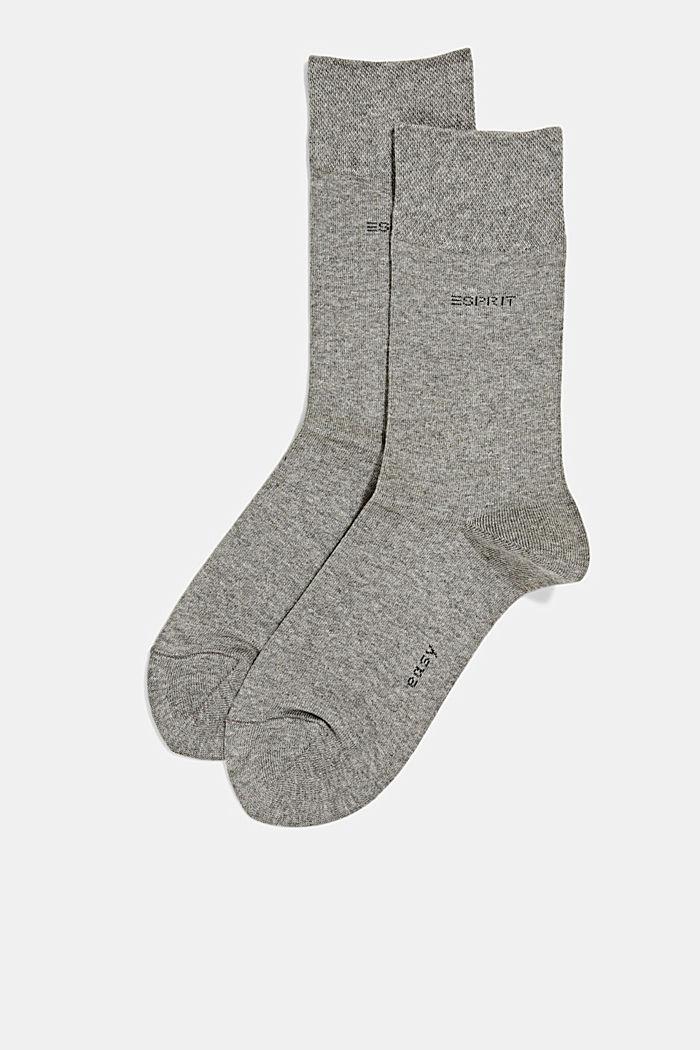 2er-Pack Socken mit Softbund, LIGHT GREY MELANGE, detail image number 1