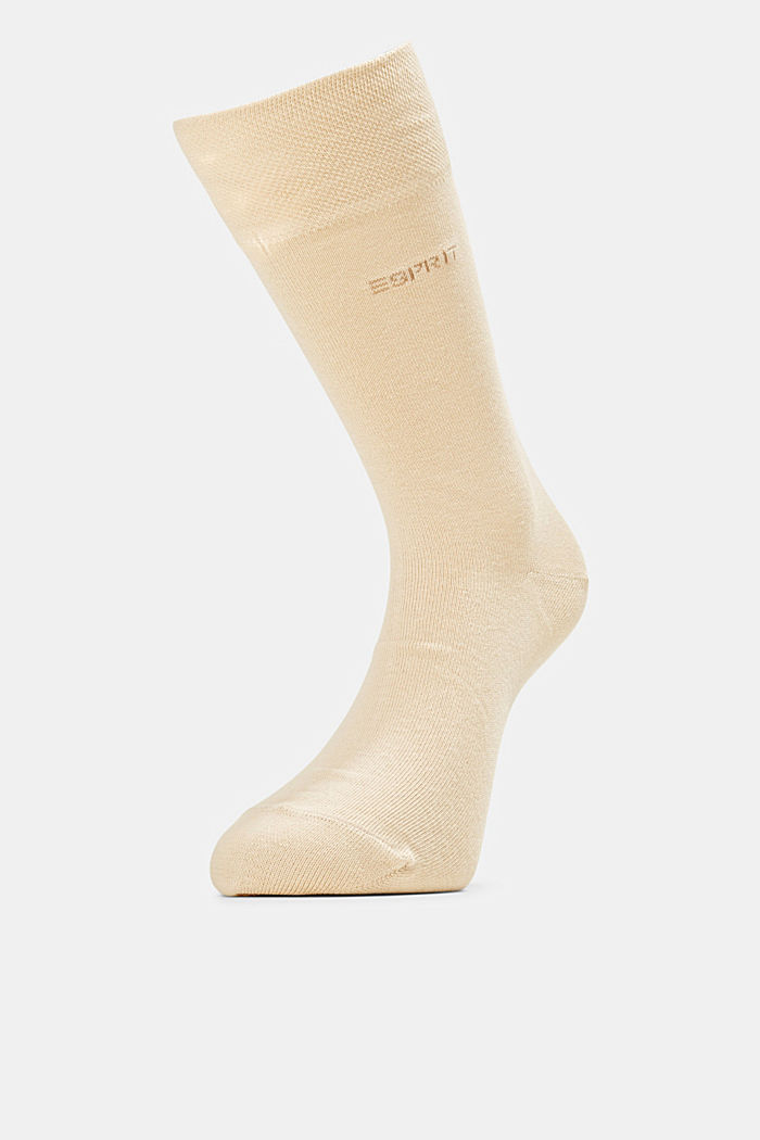 2er-Pack Socken mit Softbund, CREAM, detail image number 0