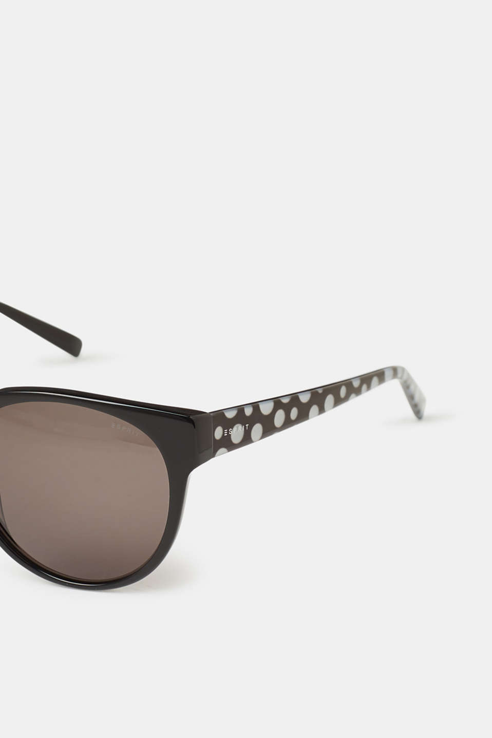 Sunglasses with a polka dot pattern , BLACK, detail image number 1