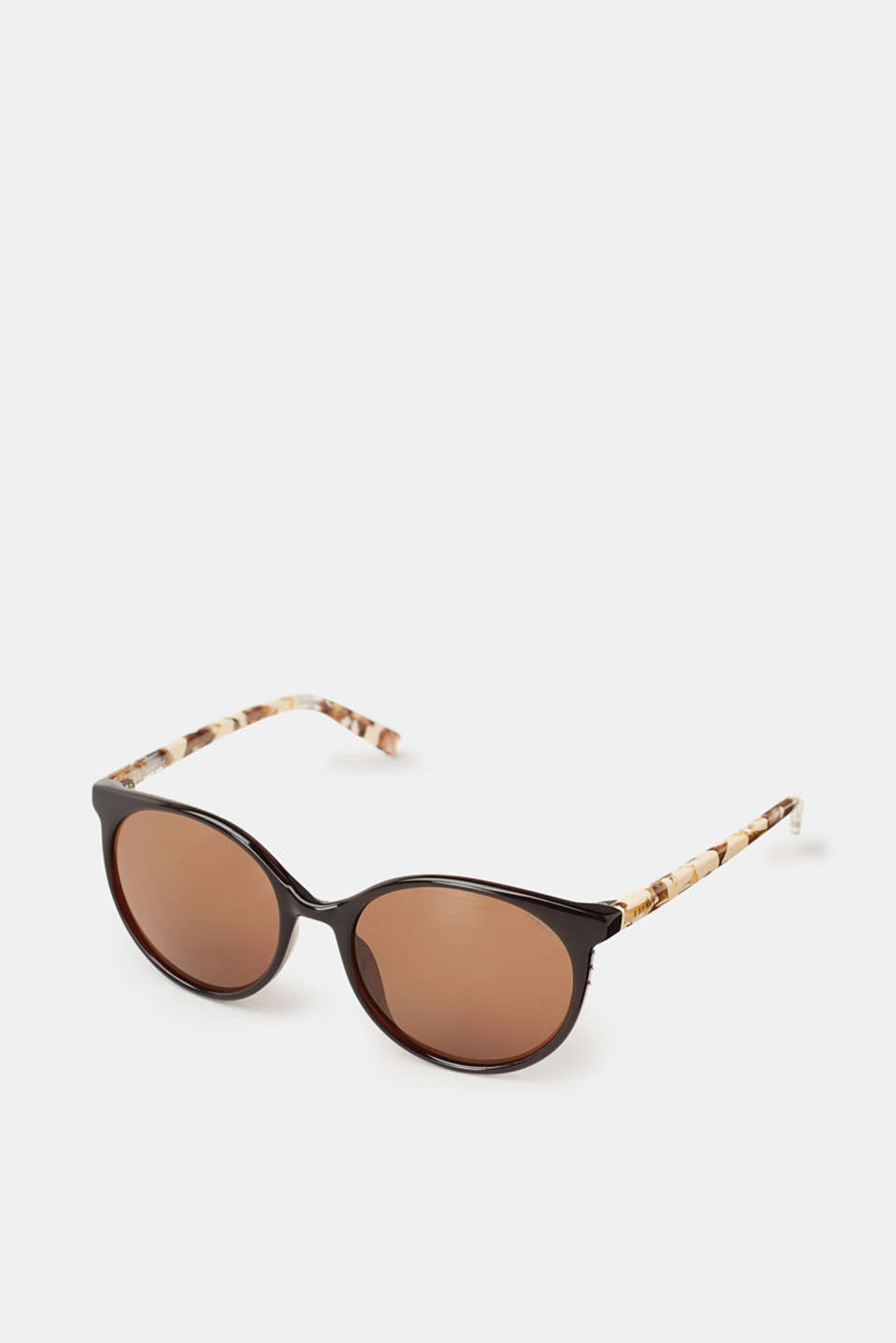 Esprit - Round sunglasses with marble-effect temples
