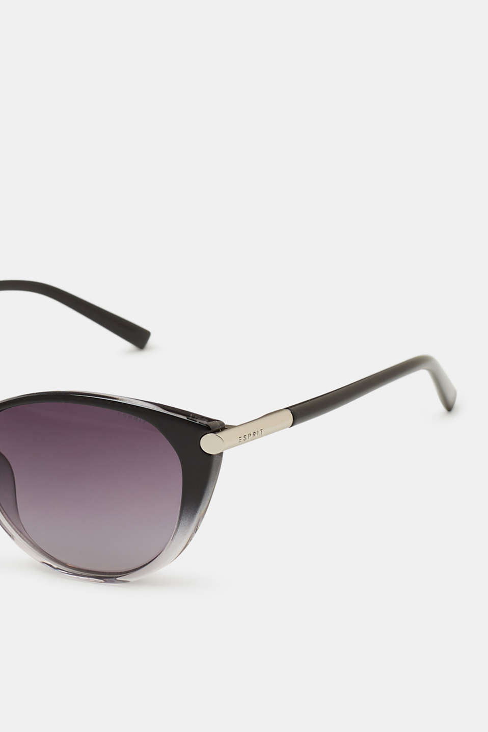 Cat eye sunglasses with colour graduation