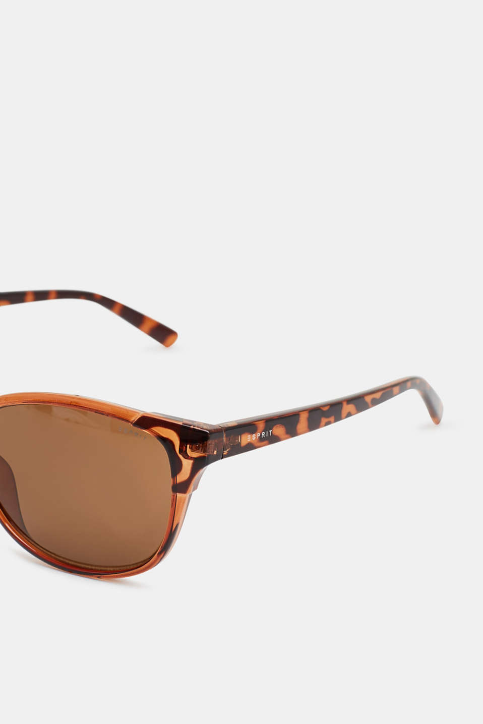 Sunglasses with an animal pattern, BROWN, detail image number 1