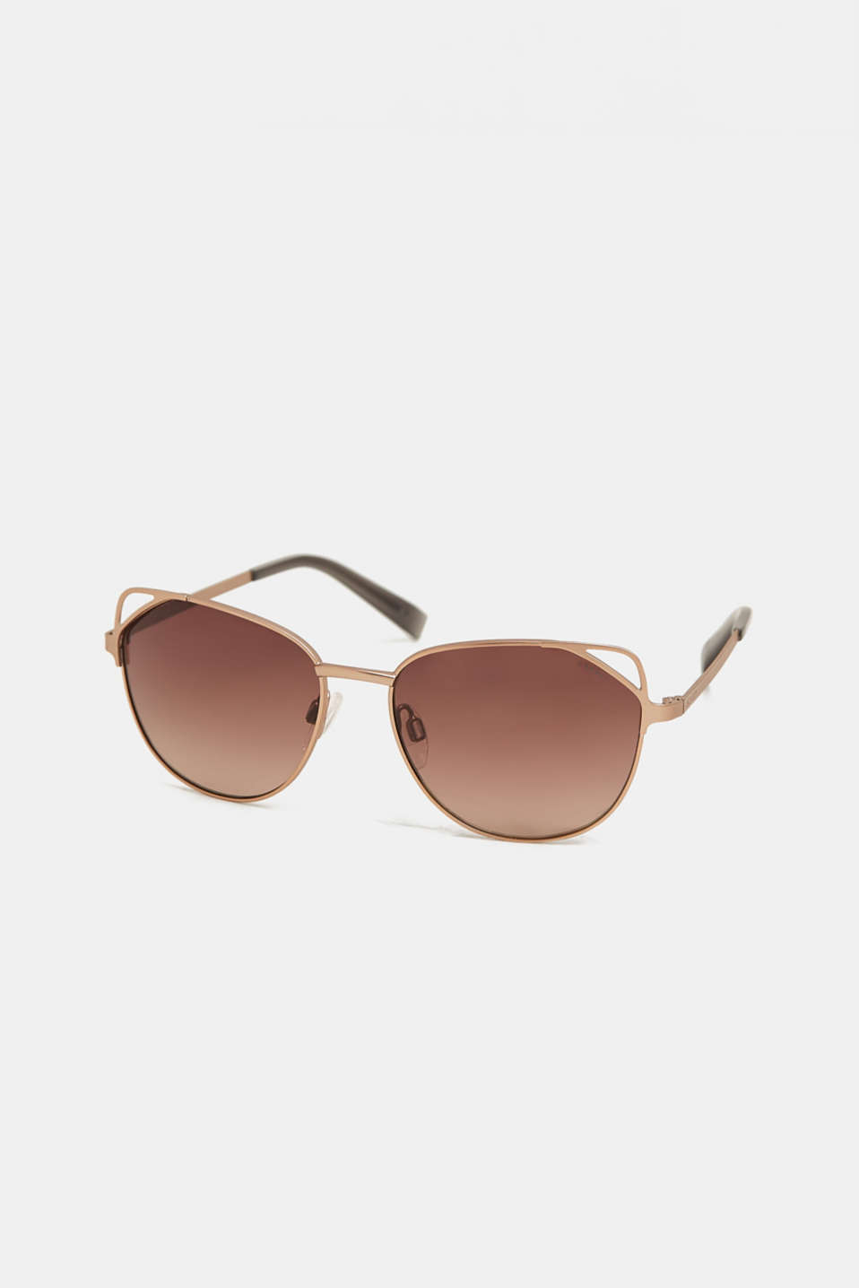 Cat eye sunglasses with a wire frame, GOLD, detail image number 0