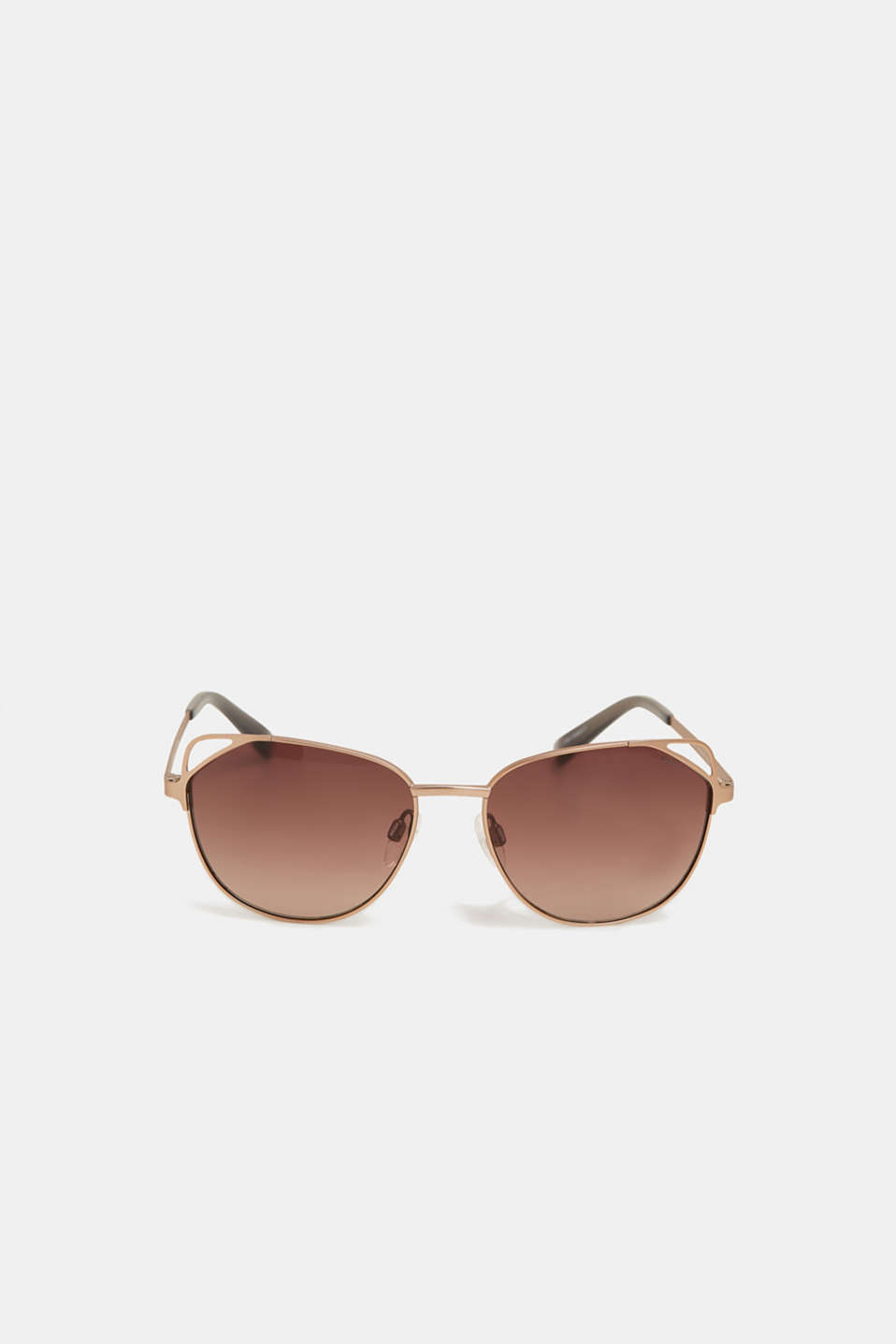 Cat eye sunglasses with a wire frame, GOLD, detail image number 1