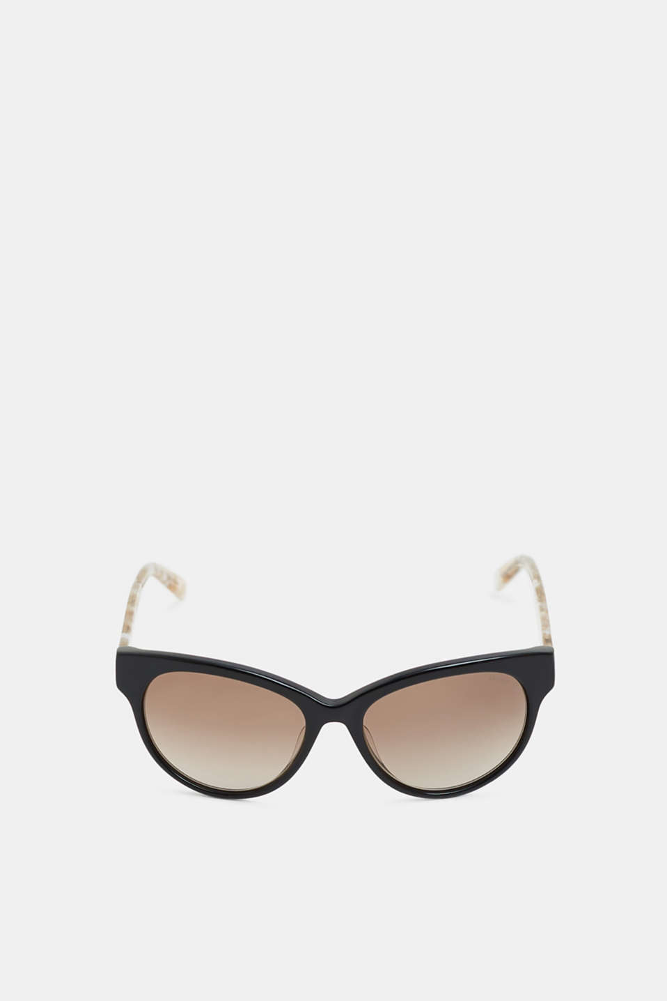 Sunglasses with marble-effect temples, BLACK, detail image number 0