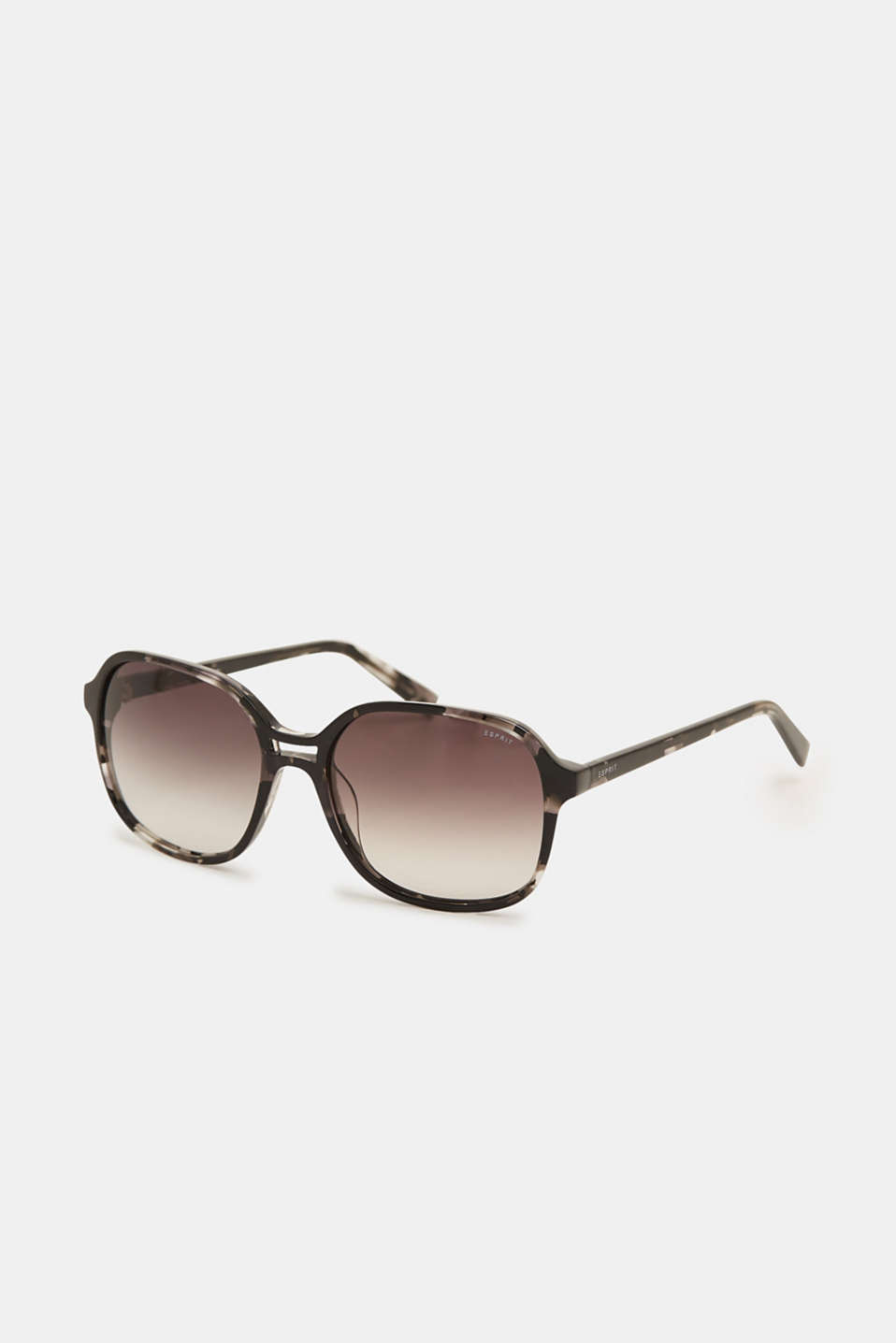 Sunglasses with a marbled pattern, BLACK, detail image number 0