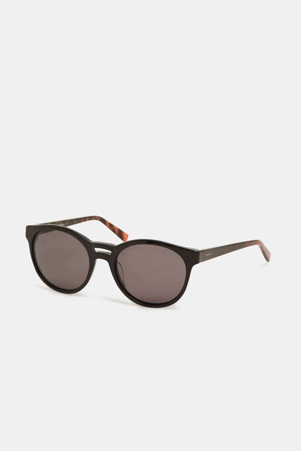 Sunglasses with a double-layered nose bridge, BLACK, detail image number 0