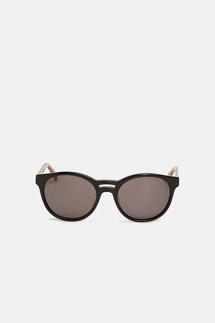 Sunglasses with a double-layered nose bridge, BLACK, detail image number 1