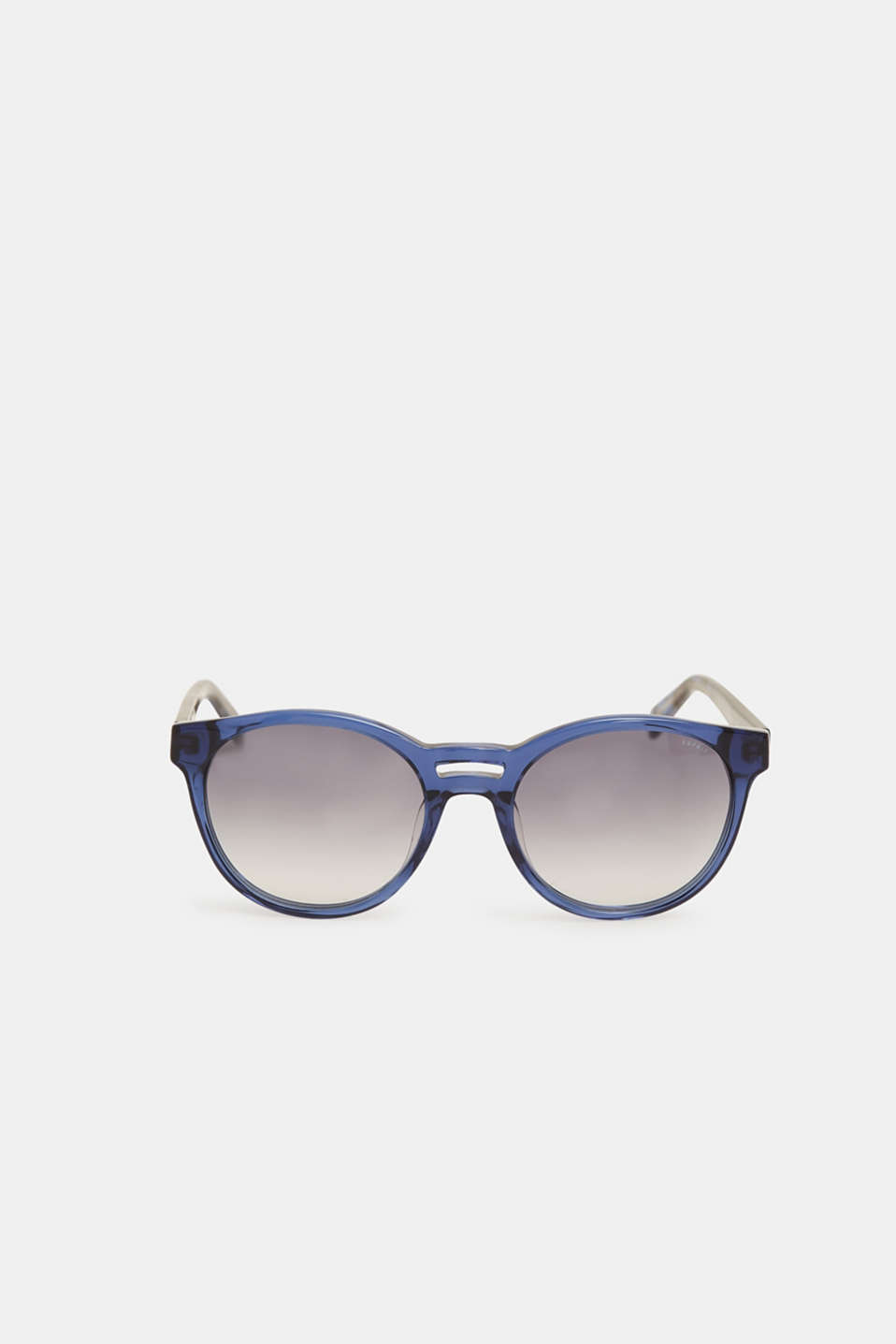 Sunglasses with a double-layered nose bridge, BLUE, detail image number 1
