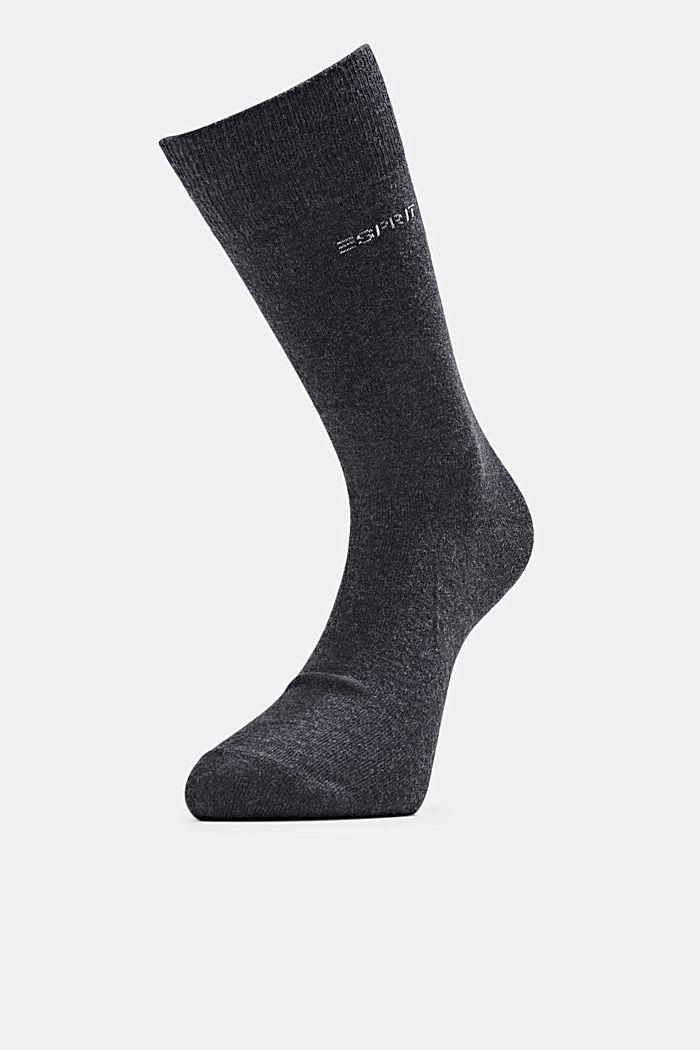 5er-Pack Socken aus Baumwollmix, ANTHRACITE MELANGE, detail image number 2