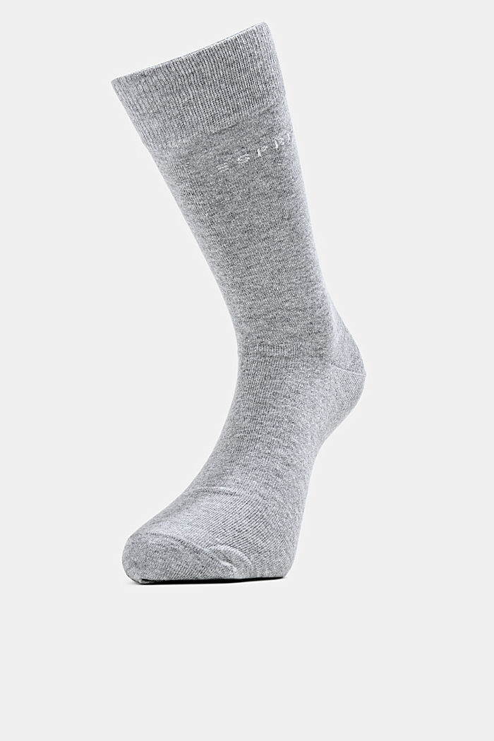 5er-Pack Socken, Bio-Baumwollmix, LIGHT GREY MELANGE, detail image number 2
