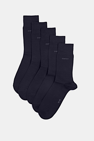 Five pack of blended cotton socks