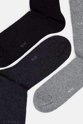 5-pair pack of blended cotton socks, BLACK/GREY, detail