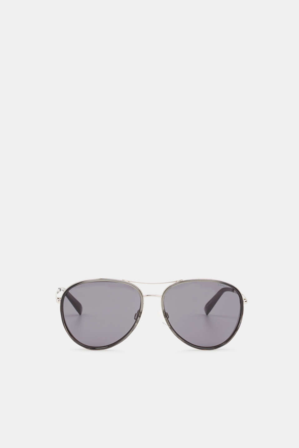 Unisex sunglasses with widened metal frames, LCGRAY, detail image number 0