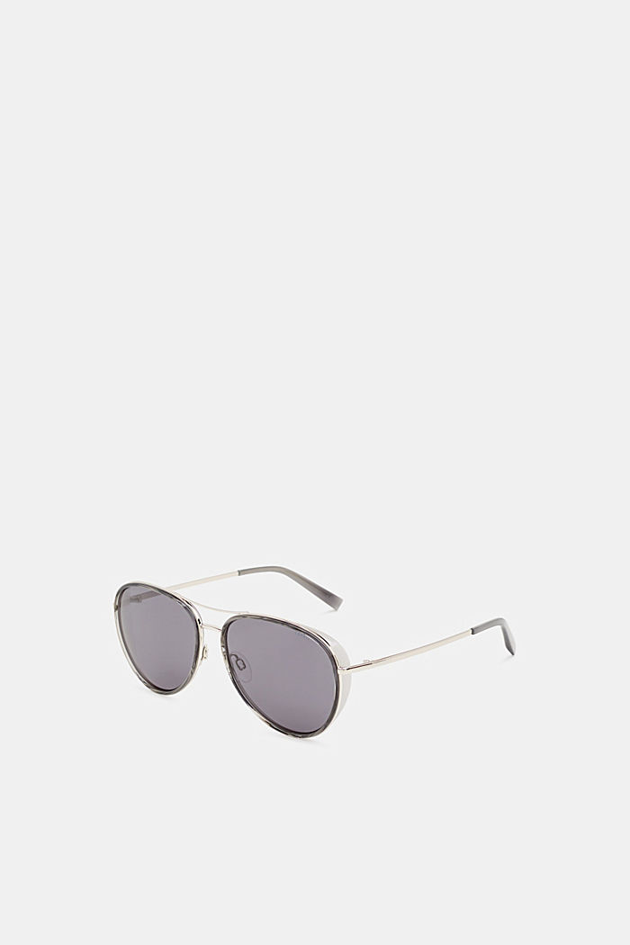 Unisex sunglasses with widened metal frames