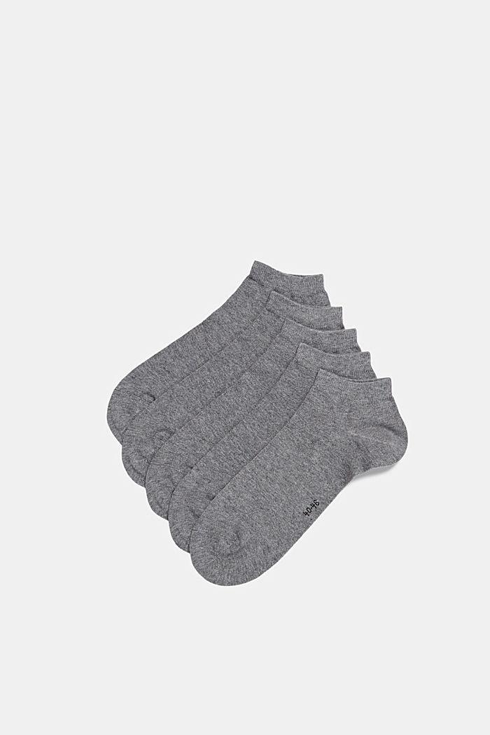 5er-Pack Sneaker-Socken aus Baumwoll-Mix, LIGHT GREY MELANGE, detail image number 0