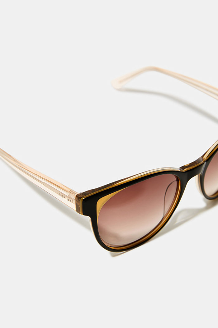 Sunglasses with colour accents, BROWN, detail image number 1