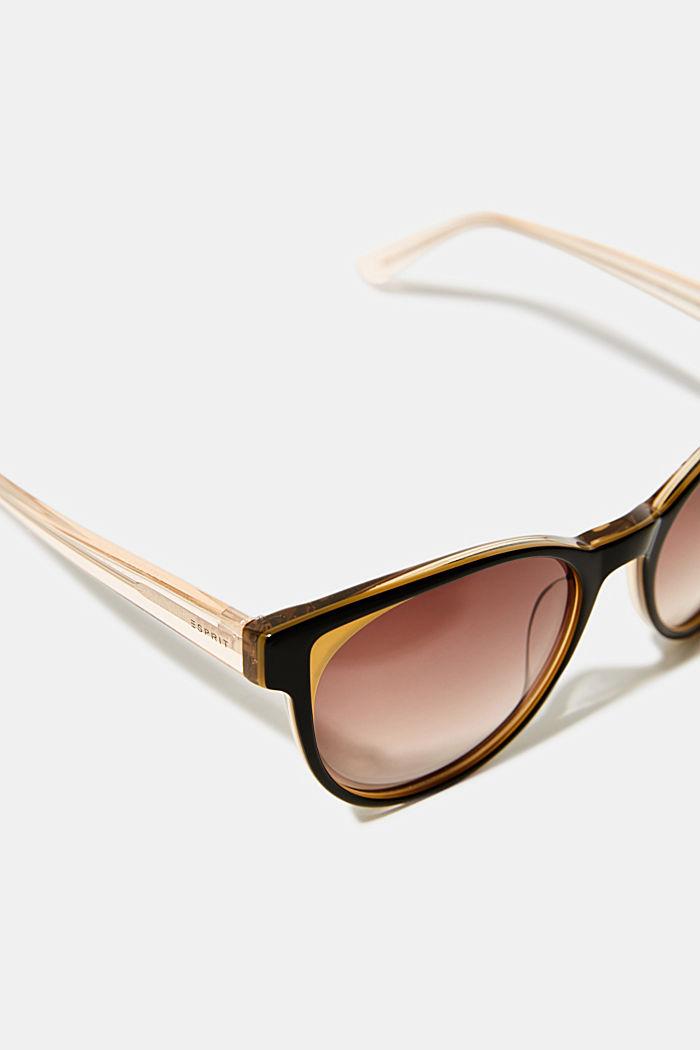 Sonnenbrille mit Farbakzenten, BROWN, detail image number 1