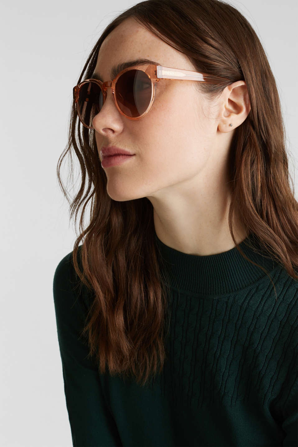 Sunglasses in a multi-coloured look, BROWN, detail image number 2