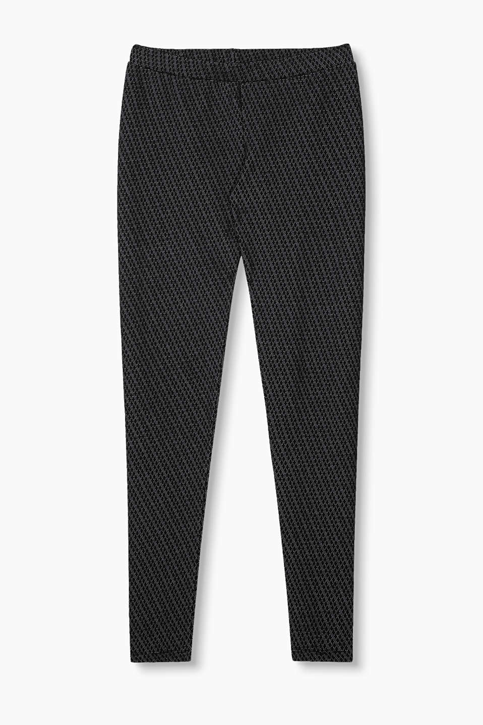 Esprit - Leggings + openwork pattern, cotton blend