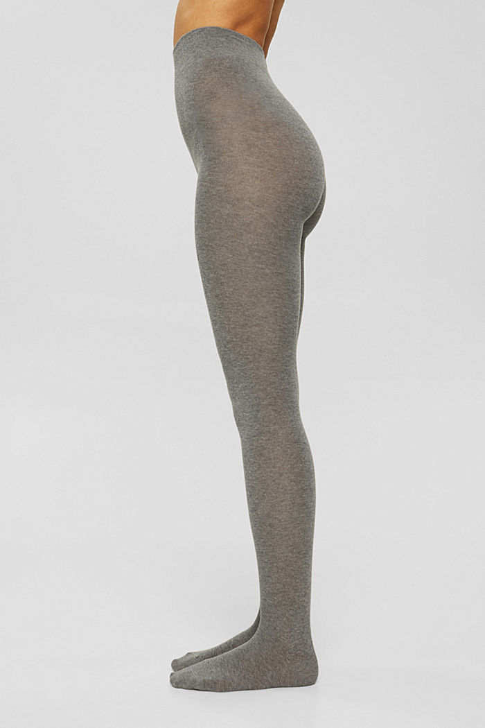 Tights in blended cotton with added stretch