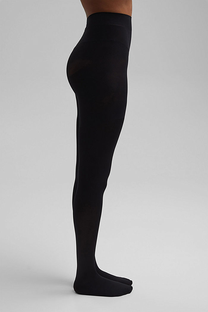 Tights with a shaping effect, 80 den, BLACK, detail image number 0