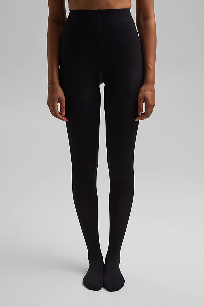 Tights with a shaping effect, 80 den, BLACK, detail image number 1