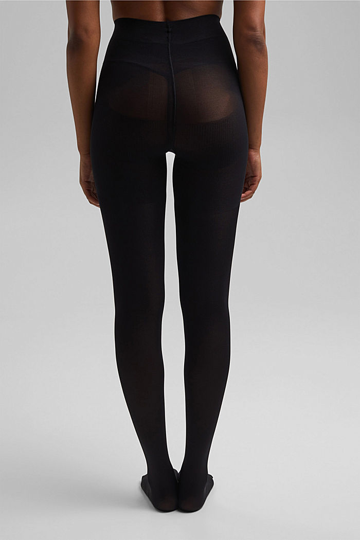 Tights with a shaping effect, 80 den, BLACK, detail image number 2