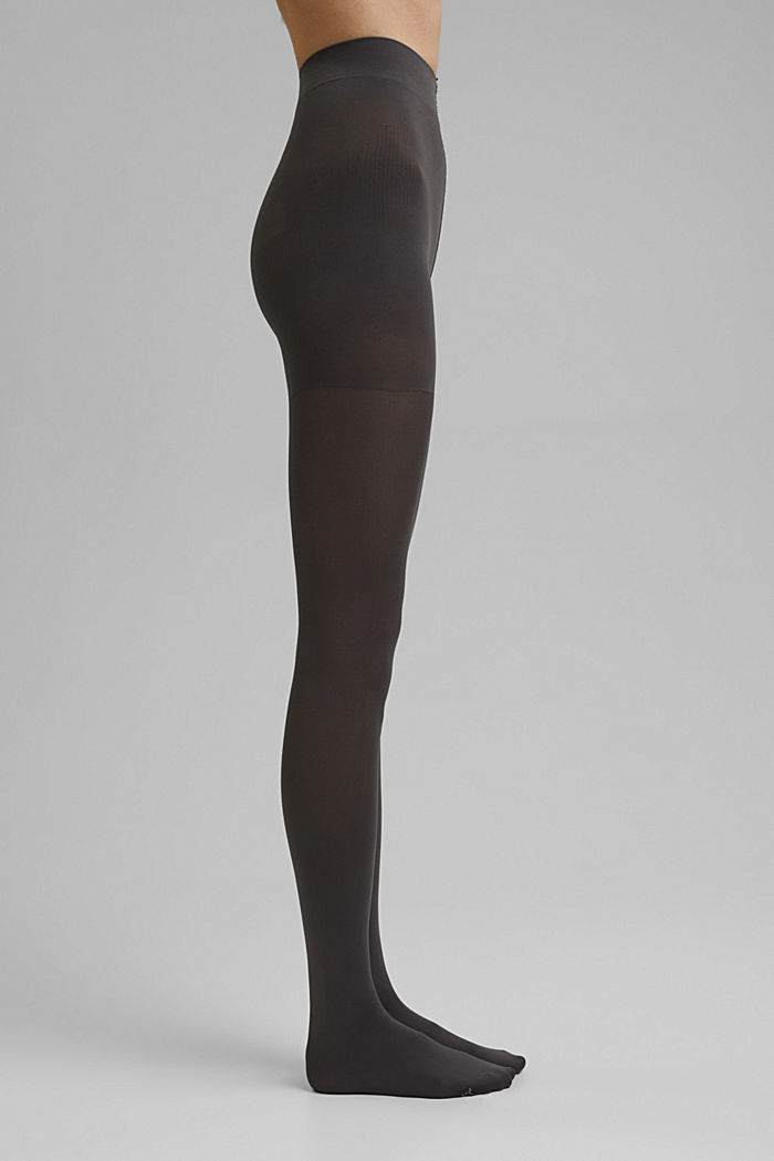 Tights with a shaping effect, 80 den, STONE GREY, detail image number 3