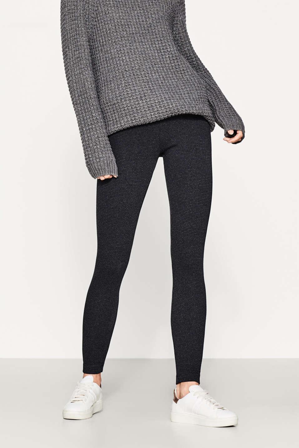 esprit leggings with a tonal houndstooth pattern at our online shop. Black Bedroom Furniture Sets. Home Design Ideas