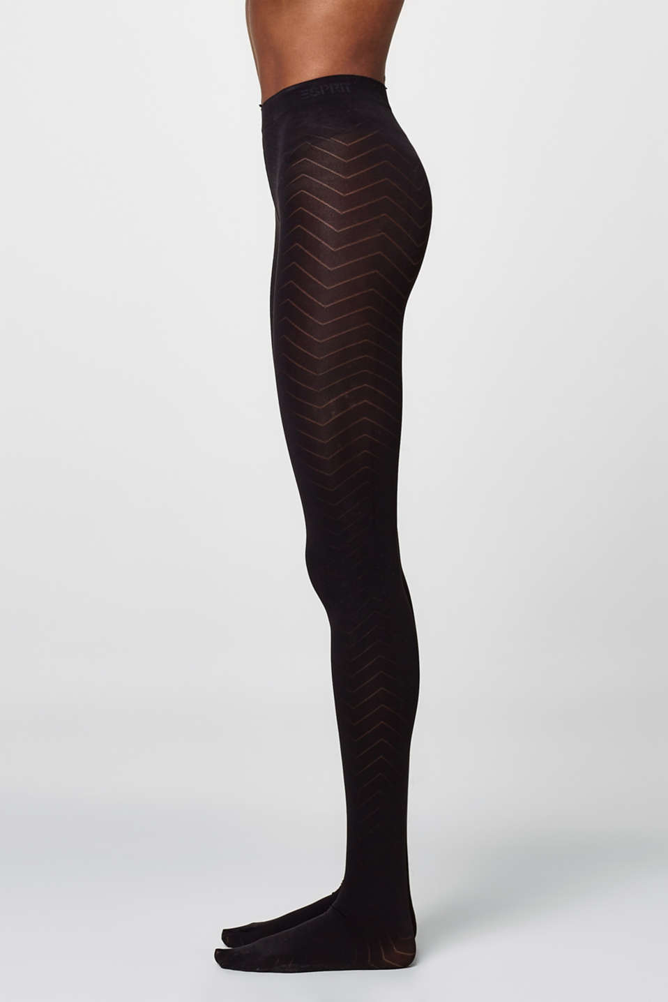 Opaque, finely textured tights