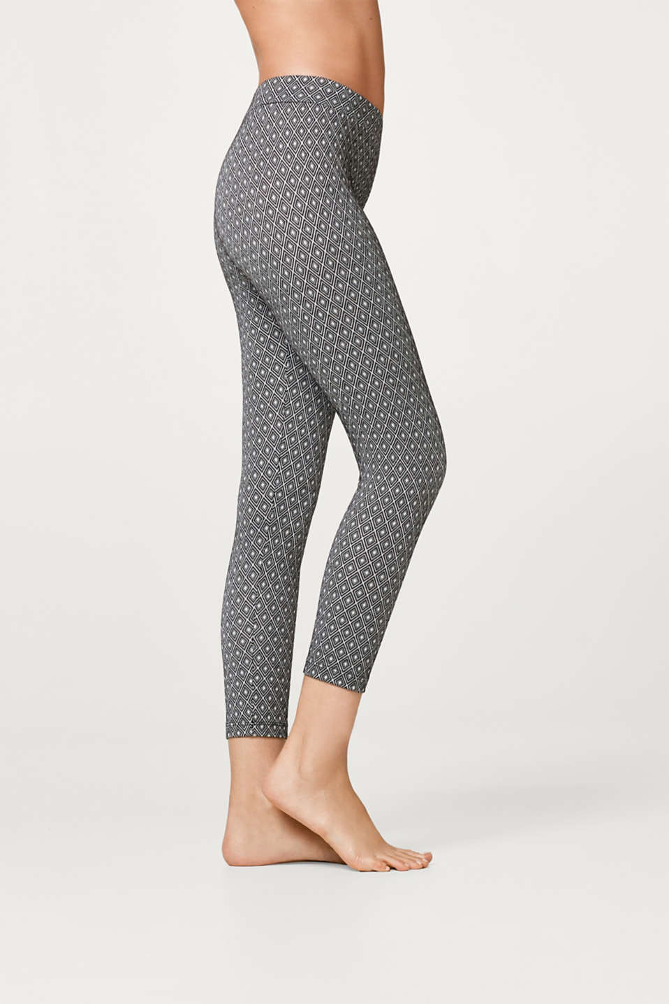 Esprit - 7/ 8 leggings with jacquard pattern