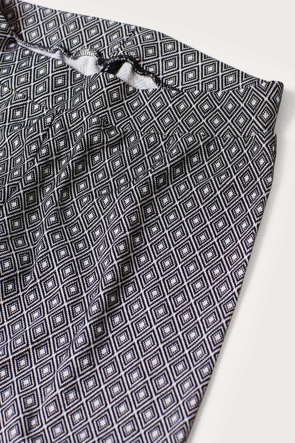 7/ 8 leggings with jacquard pattern, ANTHRACITE MELANGE, detail image number 2