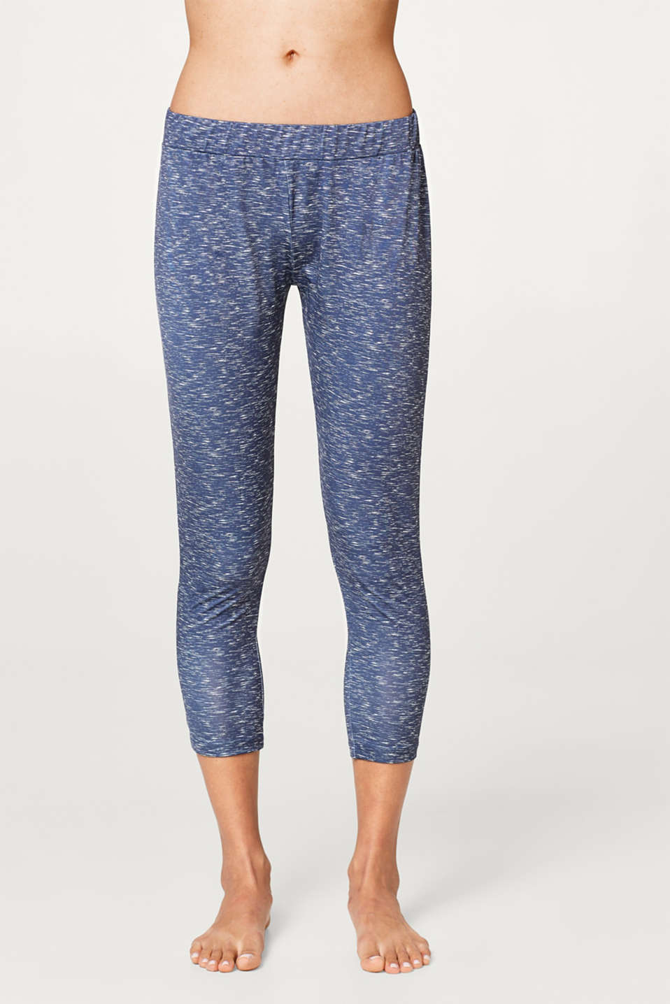 Esprit - 7/8 leggings with a melange print