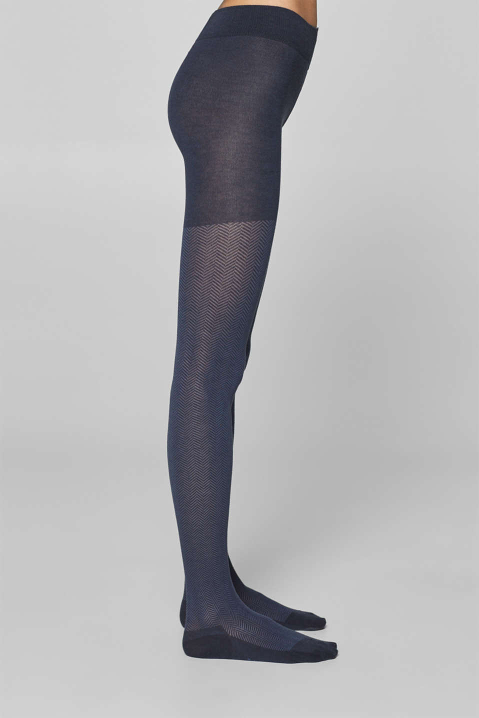 Esprit - Tights with a herringbone pattern