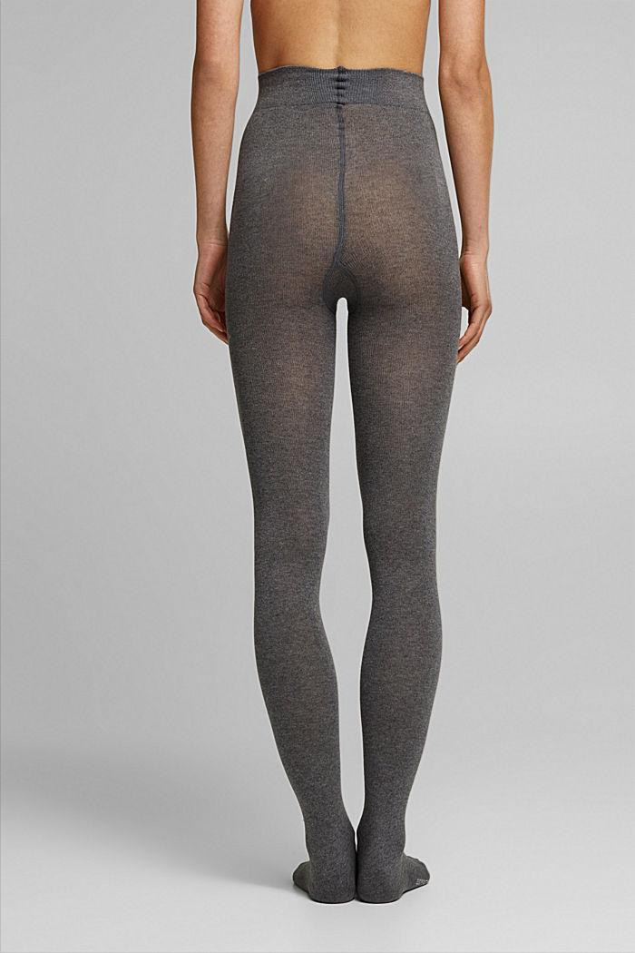 Wool blend: melange tights, LIGHT GREY MELANGE, detail image number 1