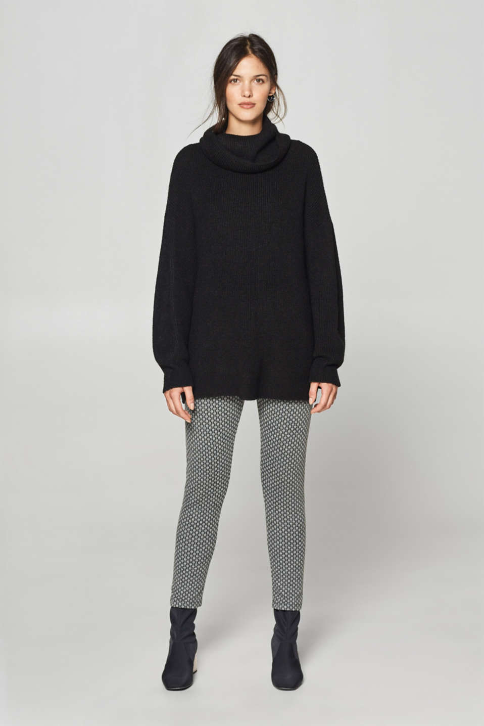 Esprit - 7/8-length leggings with a jacquard pattern