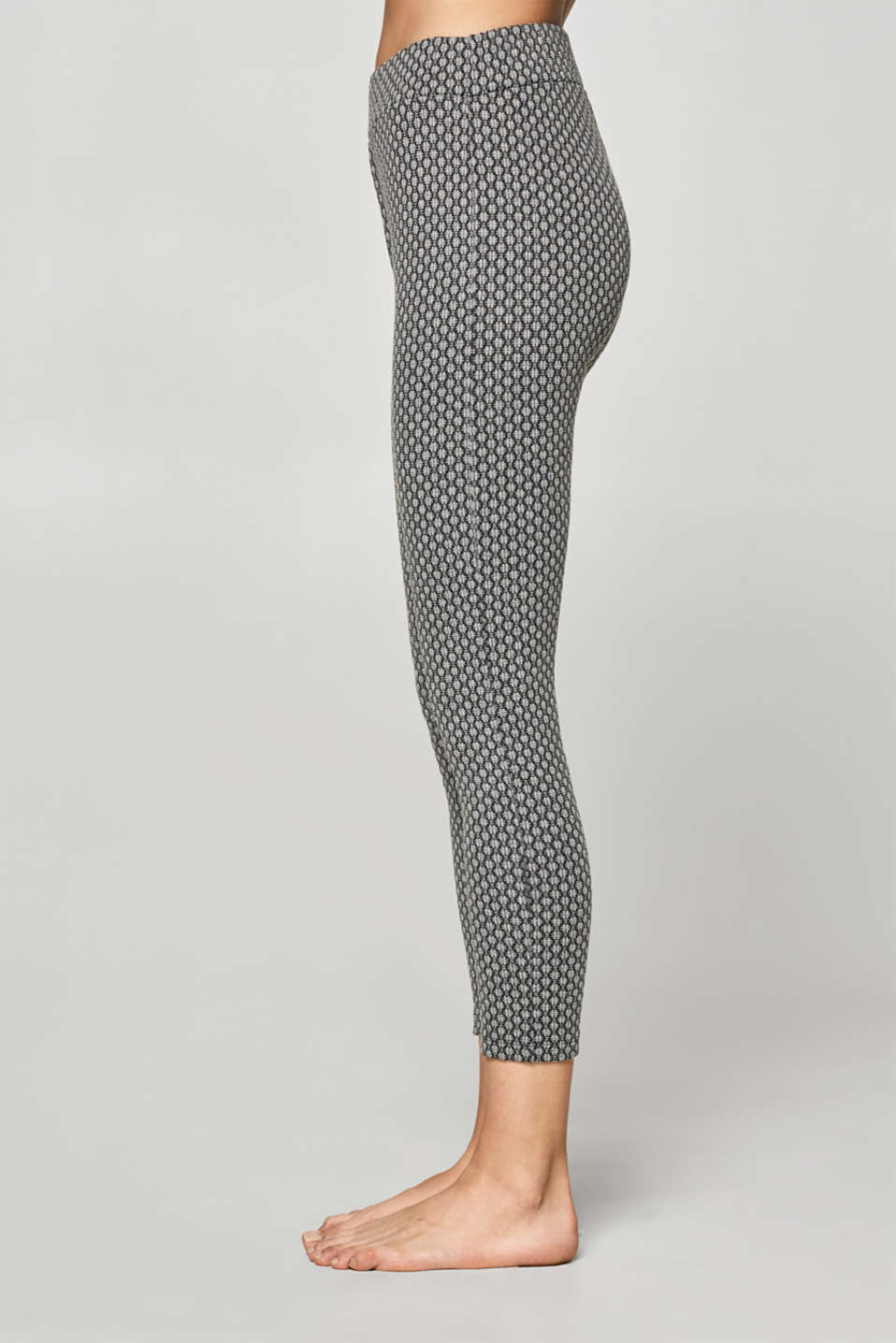 7/8-length leggings with a jacquard pattern