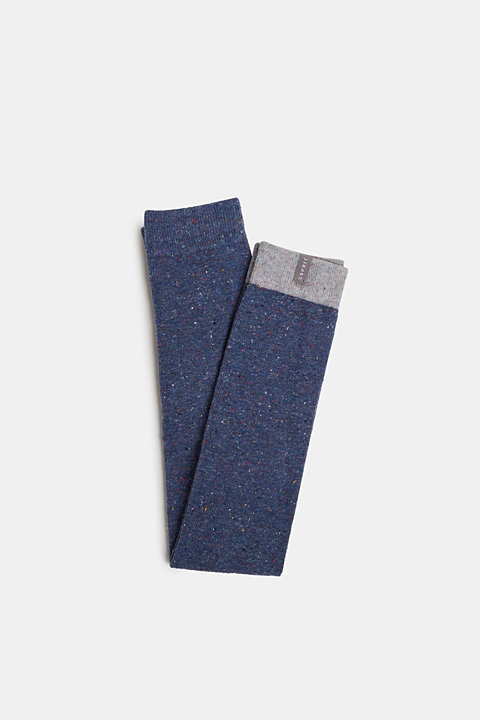 Leggings with dimples, in blended cotton