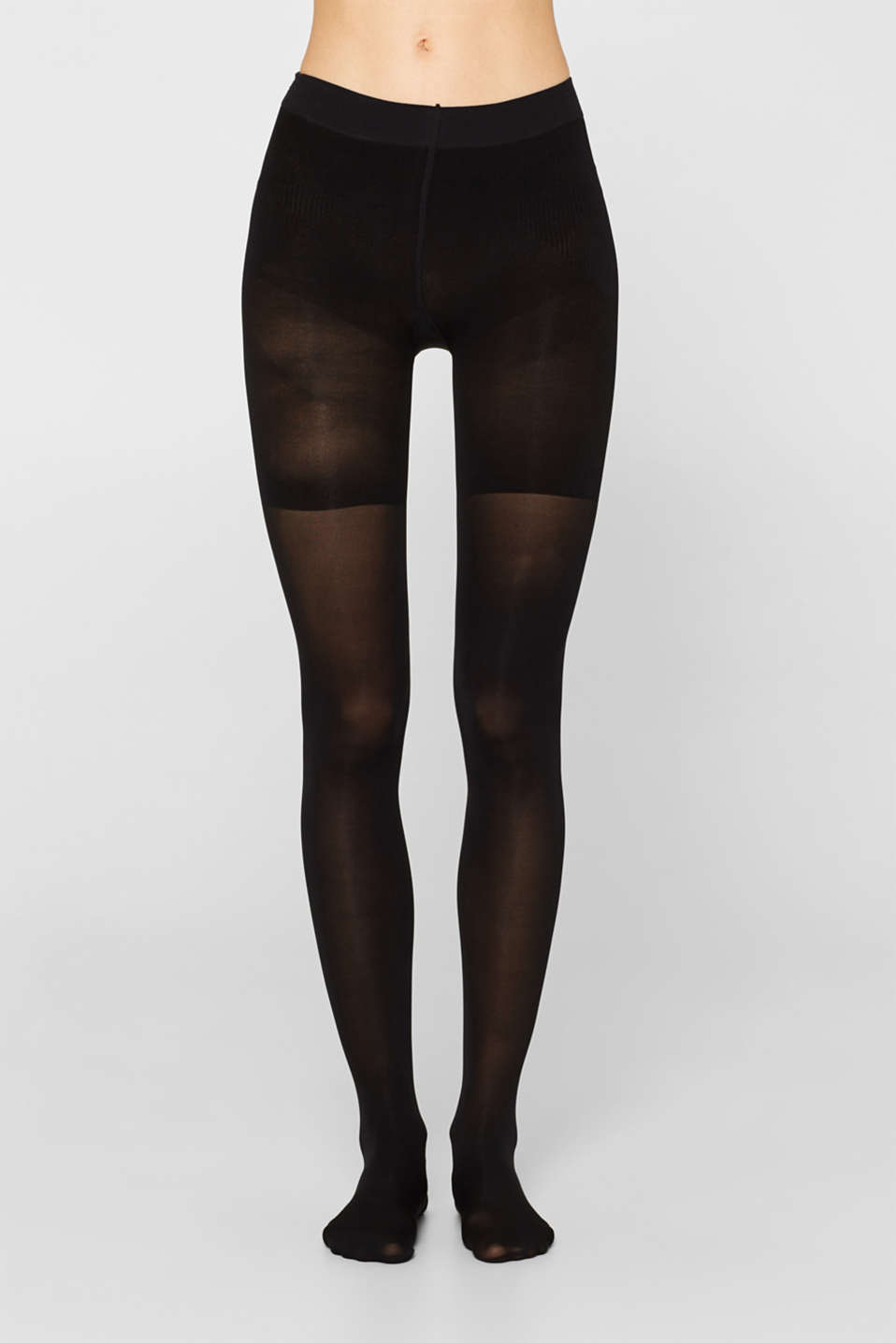 Opaque tights with a shaping effect, 40 denier, BLACK, detail image number 1