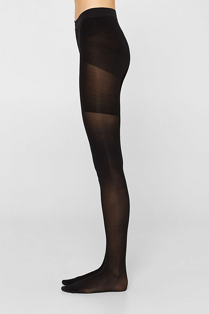 Opaque tights with a shaping effect, 40 denier, BLACK, detail image number 2