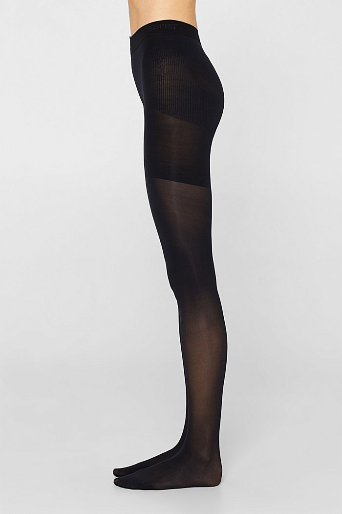 Opaque tights with a shaping effect, 40 denier, MARINE, detail image number 2