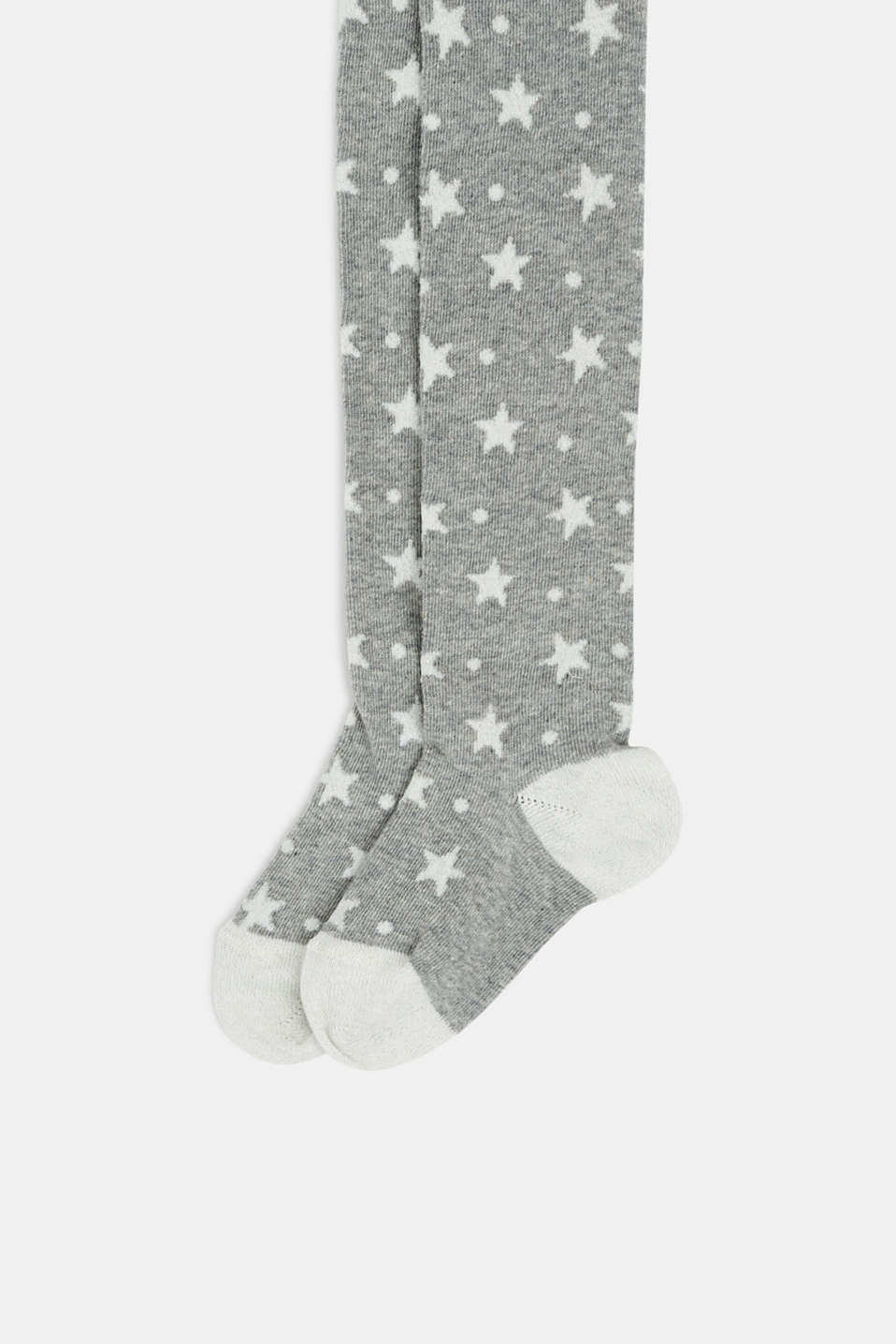 Tights with sparkly stars, LIGHT GREY, detail image number 1