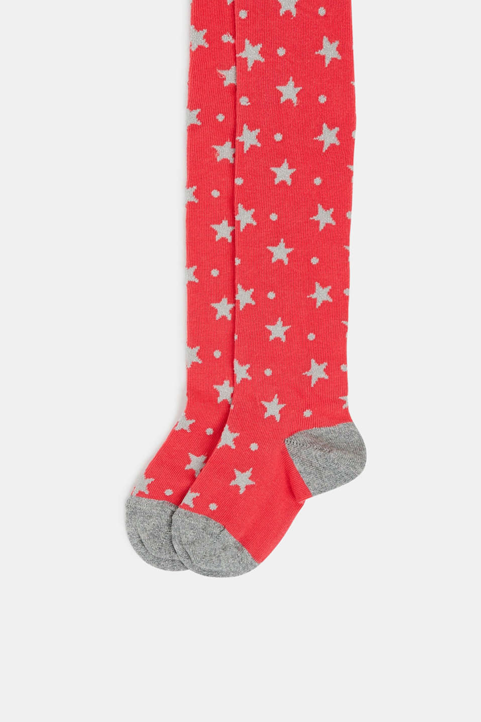 Tights with sparkly stars, RED, detail image number 1