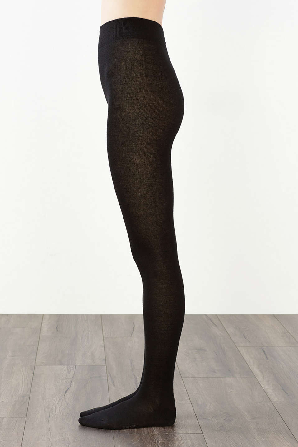 Tights made of soft knit yarn with wool, BLACK, detail image number 2
