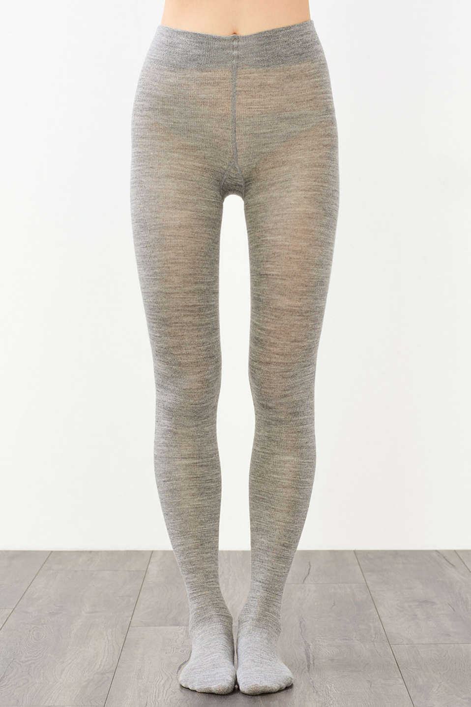 Tights made of soft knit yarn with wool, LIGHT GREY MELANGE, detail image number 0