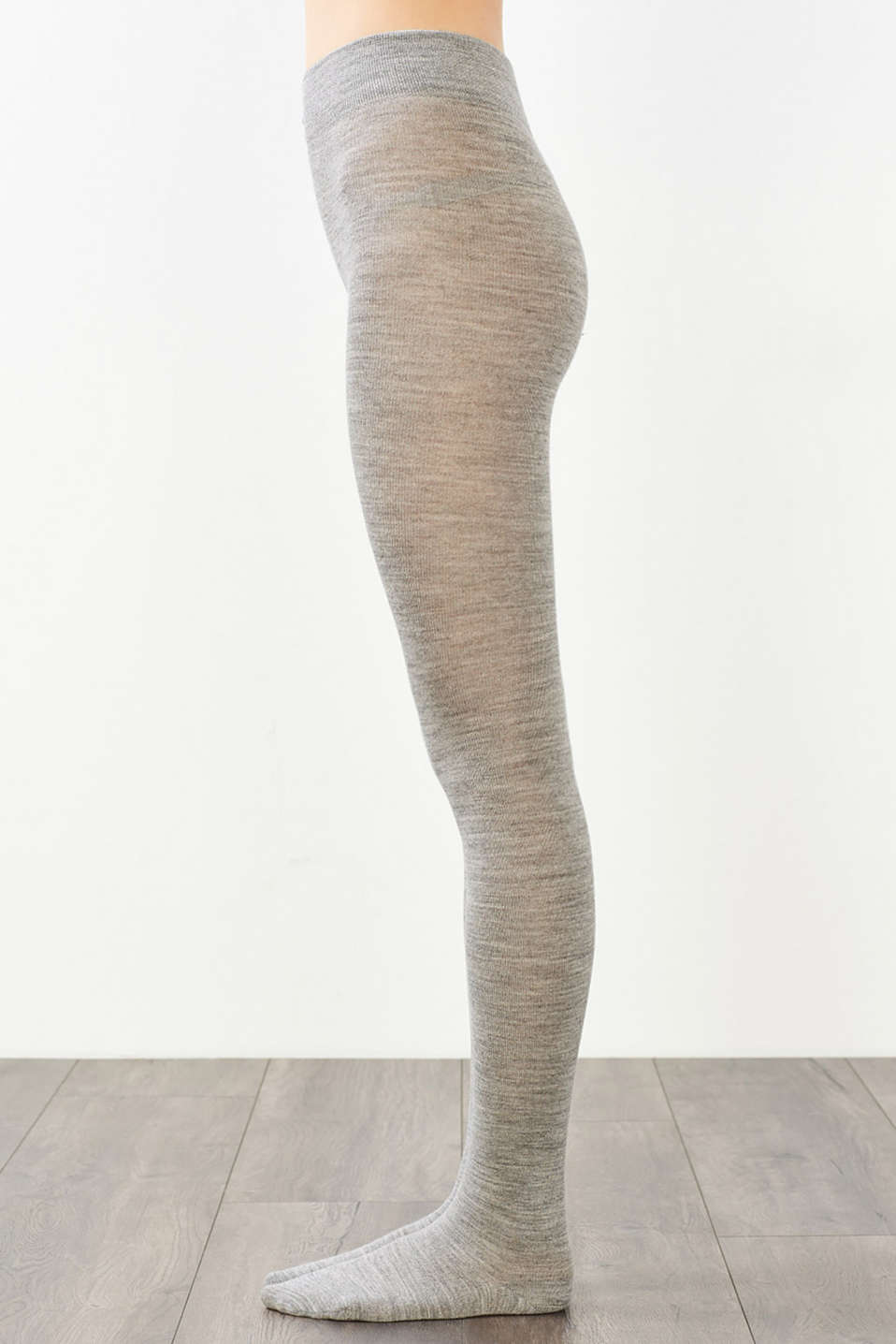 Tights made of soft knit yarn with wool, LIGHT GREY MELANGE, detail image number 2